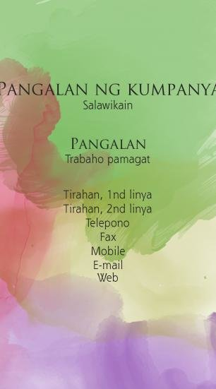 #430164 business card template kulay ng mga kumbinasyon