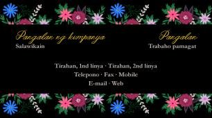 #866702 business card template beauty, salons, massage at bukal mineral